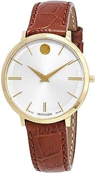 Movado Ultra Slim White Dial Women's Watch