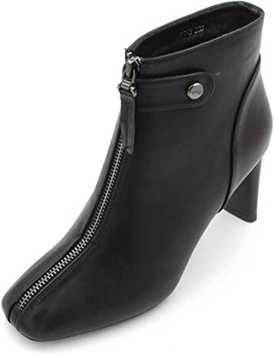 HBDLH Chaussures pour Femmes Chelsea Les Bottes La Hauteur du Talon De 7 Cm l'hiver Une épaisse Couche De 100 Ensembles Martin Bottes Talon