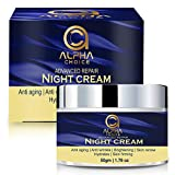 ALPHA CHOICE Night Cream for women and men, Anti aging face Cream, Wrinkle dark spot reduction...