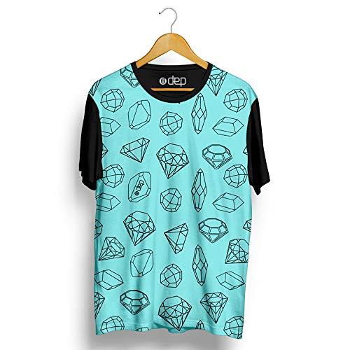 Camiseta Dep Pedras Preciosas Azul Claro (P)