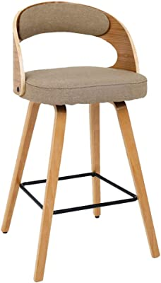 Furniture Bar Furniture Trend Mark Solid Wood Bar Chair Leisure Creative High Stool Personality Bar Chair Modern Simple Backrest High Stool.