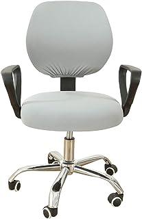 RenHe - Funda elástica para silla de oficina para ordenador, funda de silla giratoria extensible, color gris