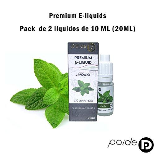 2 x 10ML Paide Premium E-Liquid - Sin nicotina