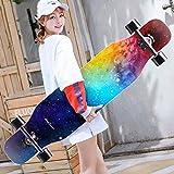 AXJX Skateboard Beginners Maple Longboard Teen Professional Spazzola Street Dance Board Ragazzi e...