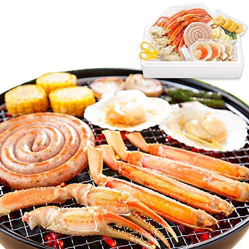蟹 ハサミ 海鮮 バーベキュー セット BBQ 帆立 ホタテ 北海道 約4人前 北国からの贈り物