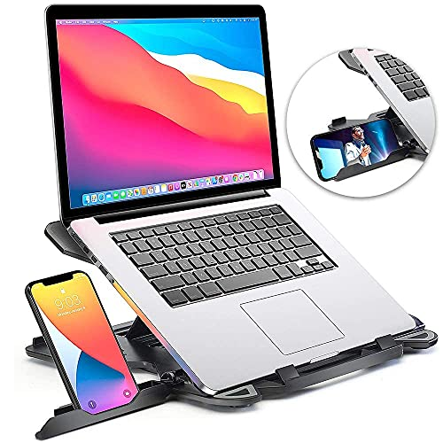 Laptop Stand for Desk, Adjustable Laptop Stand for Desk, Laptop Riser for MacBook Pro and Air 13 15 17 inch, Laptop Stands Adjustable, Ergonomic Computer Stand, Notebook Stand Patented SecureStop