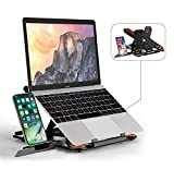 Laptop Stand TopMate Portable Laptop Riser, 360°Swivel Base Adjustable Eye-Level...