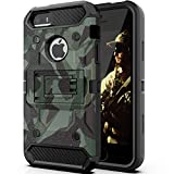 Halwen iPhone 5 Case, iPhone 5S Case and iPhone SE/SE 2 Case, Man Soldier Kickstand Military Case Three Layer Protective Shockproof Cover for Apple iPhone 5/5S/SE/SE2 – Camouflage