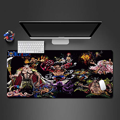DRFQSK Office Computer Desk pad Large Mouse mat XXXXL Extended Gaming Mousepad 3D Pattern 35.4x15.7 inch with Non Slip Rubber Base, Waterproof Textured Surface, Stitched Edges
