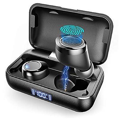 Wireless Earbuds, VANKYO X200 Bluetooth 5.0 Earbuds in-Ear True Wireless Headphones with Smart LED, 120H Playtime Deep Bass Stereo Sound, IPX8 Waterproof Wireless Earphones With Mic for Work Sport from Vankyo