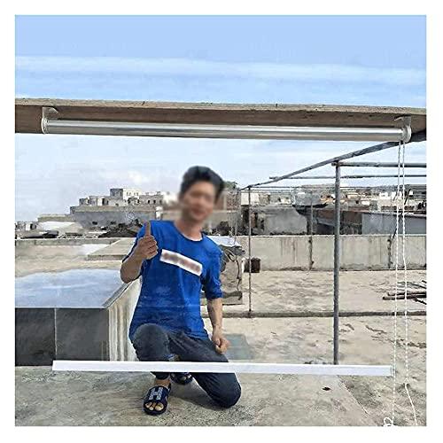 XJJUN Klare Rollos, PVC-Kunststoff-Regenschutz-Fenster-Rollos Wetterbeständig UV-beständig, Für Balkon-Terrasse (Color : Klar, Size : 1x2.5m)