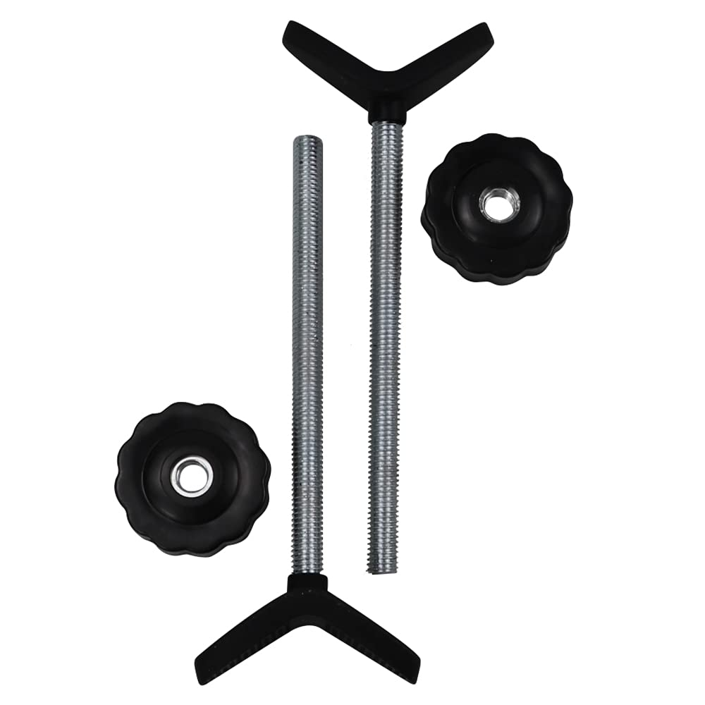 Sungrace 2 Pack Extra Long Y Spindle M8 Stair Banister Baby Gate Adaptors for Dreambaby Pressure Mounted Security and Pet Safety Gates (Black, 8mm)