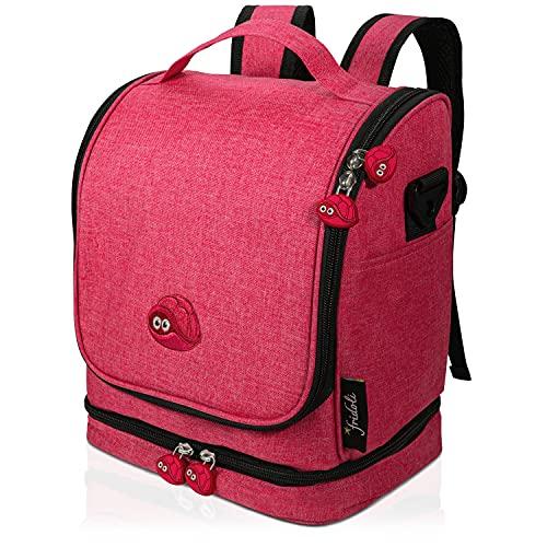 fridoli Kinderrucksack für Toniebox und Zubehör   rot   Akku Aufladen in der Toniebox Tasche   auch für Tigerbox Touch geeignet   Kita Rucksack