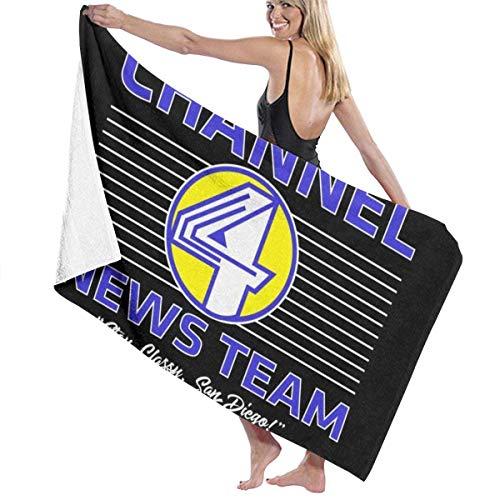XCNGG Anchorman Channel 4 News Team Logo Toalla de baño Calidad de hotel de cinco estrellas. Toalla de baño de la colección Premium. Suave, felpa y altamente absorbente (1 toalla de baño de 31 x 59 pu