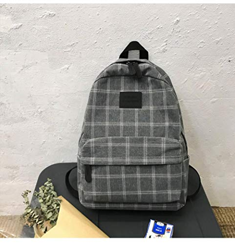 NVT Girl College School Bag Casual Women Backpack Striped Book Packbags for Teenage Travel Shoulder Bag,Black