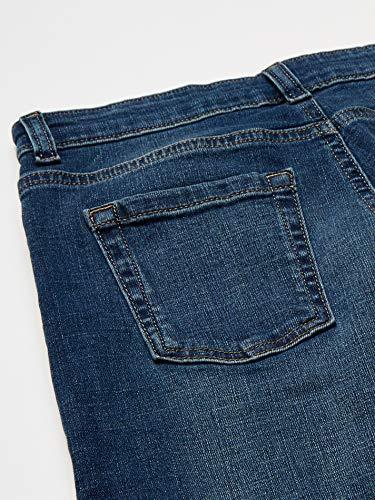 Amazon Essentials Boy's Stretch Straight-fit Jeans, Everest Medium Wash, 14 Slim