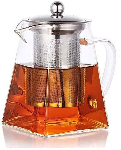 Bouilloire induction Théière en verre Théière à la vapeur Théière Café Moka Pot Théière à la chaleur Théière épaissie Théière en verre épaissie pour bureau à domicile extérieur WHLONG (Size : 700ml)