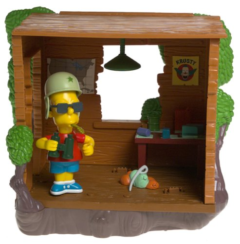 The Simpsons Series 12 Playset Bart's Treehouse with Military Bart