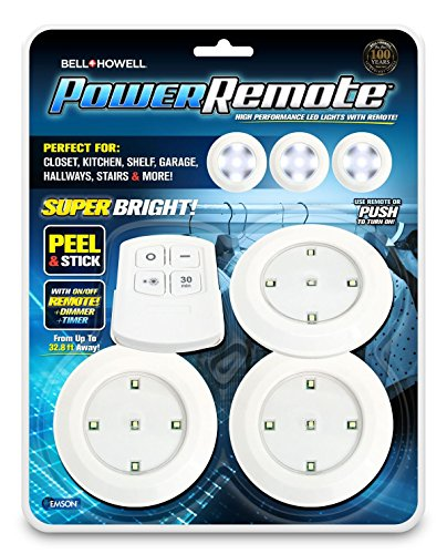 Bell+Howell Power Remote PODS Super Bright High Performance LED Lights As Seen On TV (Pack of 3)