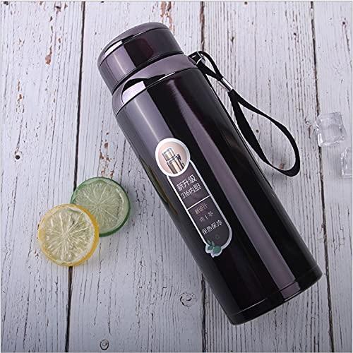 1L Business Thermos Taza de acero inoxidable con aislamiento de botella de agua portátil para oficina, té, café, taza de tour
