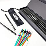 Carbon Fiber Reusable Drinking Straws - Tall | 4 Pack
