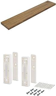平安伸銅工業 DIY収納パーツ ナゲシレール ブラケット KXO-210 ホワイト 木材セット 幅60 奥行10cm 棚板BRIWAX