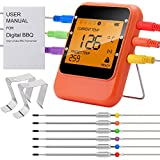 remote bbq thermometer iphone - BBQ Meat Thermometer, Bluetooth Remote Cooking Thermometer, Digital Oven Thermometer with 6 Stainless Steel Probes for Cooking, Smoker Grill ,Barbecue