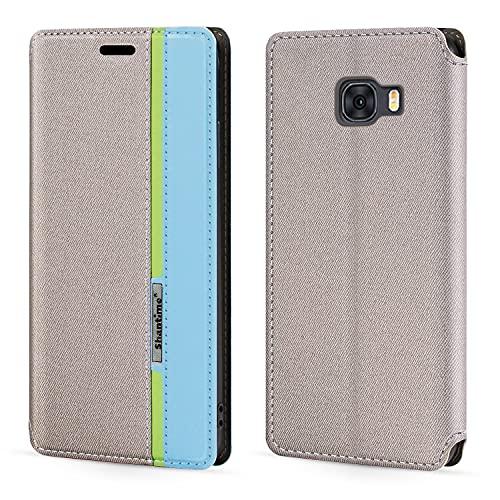 Funda para Samsung Galaxy C5, con cierre magnético multicolor y tarjetero para Samsung Galaxy C5 2016 (5,2 pulgadas)