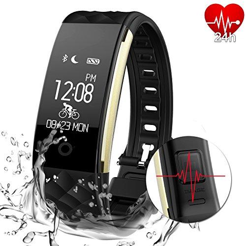 AGPTEK Cardiofrequenzimetro Fitness Tracker attività Tracker Impermeabile Intelligente Wristband Band con contapassi Sonno Monitor Passo contatore Calorie Braccialetto Bluetooth per Nuoto Ciclismo