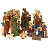 Weihnachtskrippe 11tlg. Krippenfiguren-Set Weihnachten Figuren Krippe