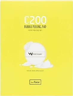 WISH FORMULA C200 Bubble Peeling Pad for Face 4ct - Peel + Vitamin C Skincare, Exfoliating and Removing Dead Skin Cells, Impurities, Fine dust