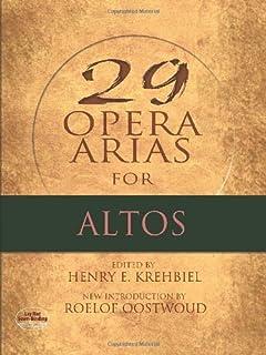 Twenty-Nine Opera Arias for Altos