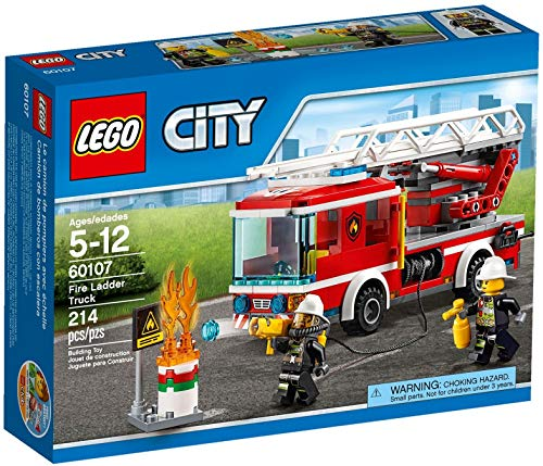 Product Image of the LEGO City Fire Ladder Truck 60107