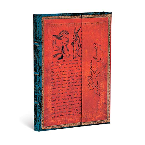 Paperblanks Hardcover Journals Lewis Carroll, Alicia en el País de las Maravillas | Liso | Midi (130 × 180 mm) (Embellished Manuscripts Collec)