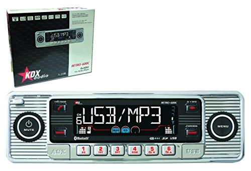 KDX Audio Retro 600 Autoradio (USB, CD, SD) silberfarben