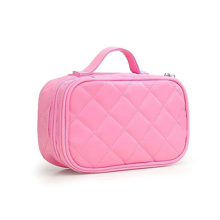 宣教師若い浴室化粧オーガナイザーバッグ 女性の化粧品バッグのポータブル韓国語バージョン創造的な ナイロン防水洗浄バッグ。 化粧品ケース (色 : ピンク)