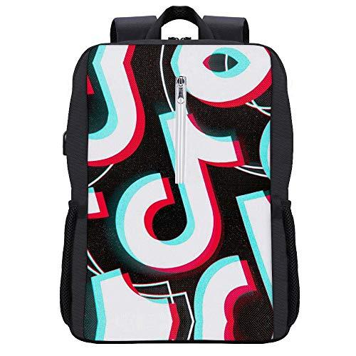 Ti-k to-k Premium - Mochila antirrobo para portátil con puerto de carga USB para mujeres y hombres de 15,8 pulgadas, grandes y modernas, portátiles de viaje, Negro-estilo1 (Blanco) - ERIJNHBIRJH
