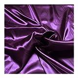 Stoff am Stück Stoff Polyester Satin violett leicht
