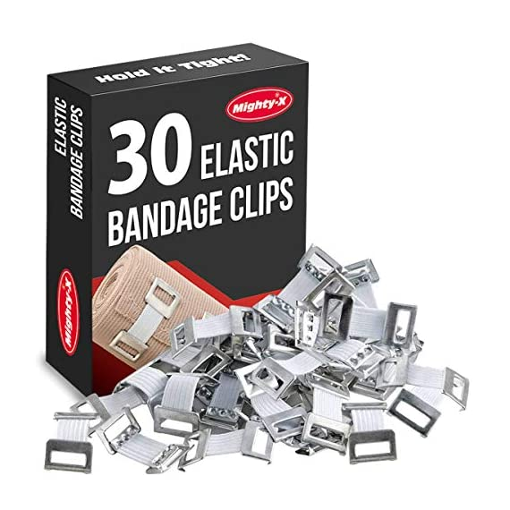 Premium Elastic Bandage Wrap - 4 Pack + 4 Extra Clips - Durable Compression Bandage (2x - 3 inch, 2x - 4 inch Rolls… 1 ✅ VALUE PACK - Your package includes 4 rolls of compression wrap, two 3-inch rolls, and two 4-inch rolls. The smaller bandage is perfect for covering smaller areas while the larger bandage is ideal for larger areas. ✅ DURABLE MATERIAL - Our elastic bandage wrap is made from premium polyester. It provides the best results by keeping your muscles tight. Each compression bandage extends up to 15ft when fully stretched. This is long enough to wrap most wrists, ankles or knees. ✅ INDIVIDUALLY PACKED - Our elastic bandages come encased in a protective wrapper until you're ready to use them. This keeps your bandage wrap sanitary and free of debris to help prevent any kind of adverse reaction should an injury occur.