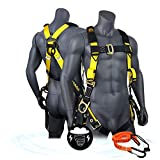 KwikSafety (Charlotte, NC) SUPERCELL Safety Harness | ANSI OSHA Full Body Personal Fall Pr...