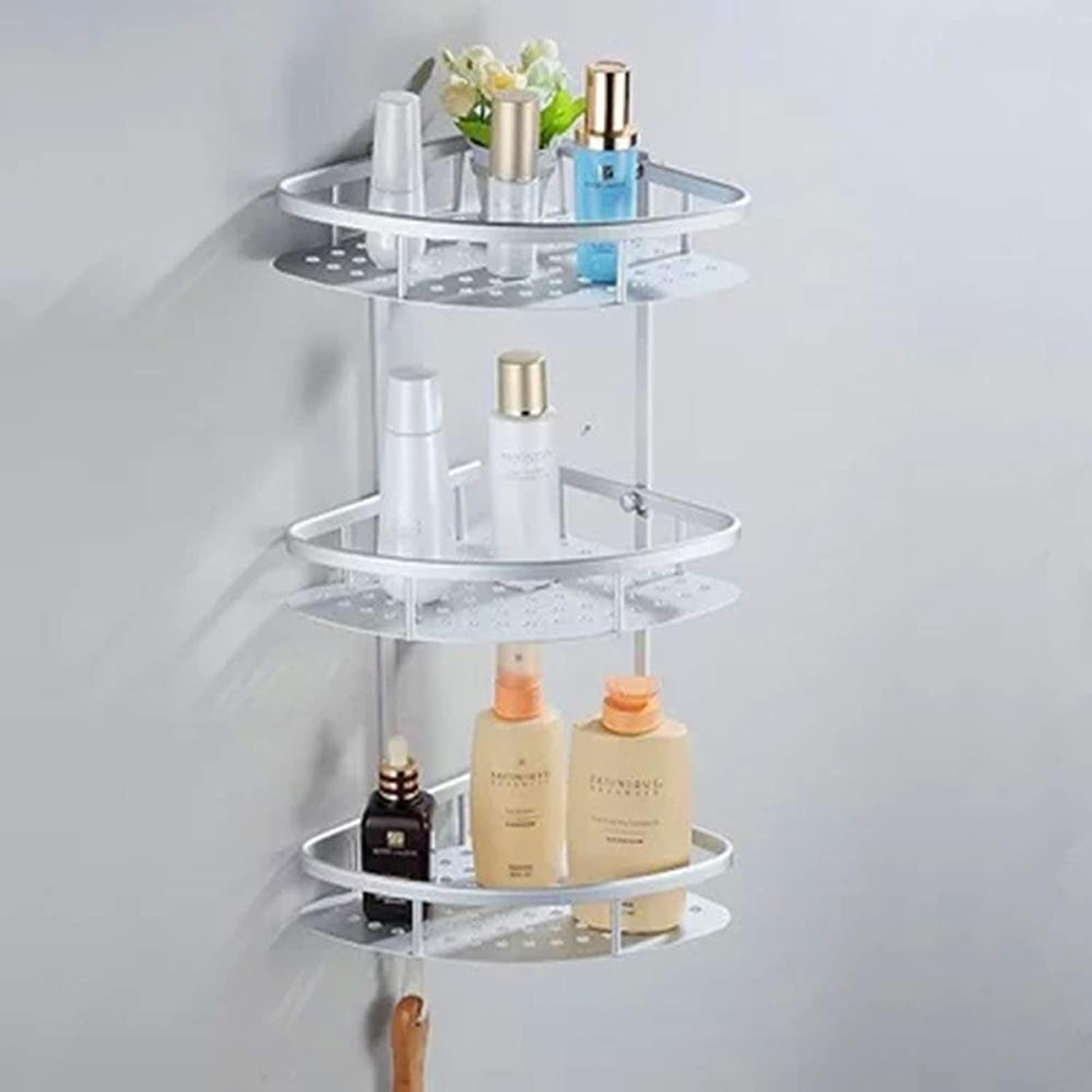 XAH@ Simple and modern space aluminum wall-mounted corner bathroom shelf