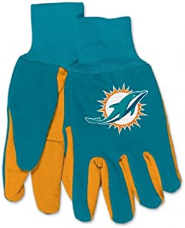 NFL Miami Dolphins Kids Two Tone Gloves