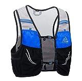 AONIJIE Mochila de hidratación de 2,5 litros Marathoner Running Race Chaleco de hidratación para correr con paquete de hidratación [Para hombres o mujeres] (Azul negro, L/XL)