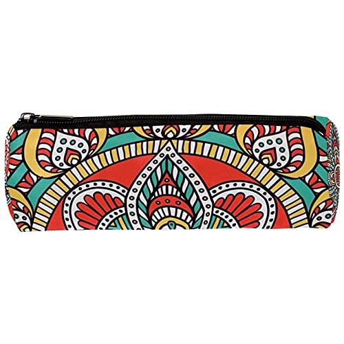 Estuche grande de gran capacidad para lápices Mandala psicodélico grande bolsa de almacenamiento marcador de lápiz caso simple bolsa de papelería 19x7,5x3,8cm