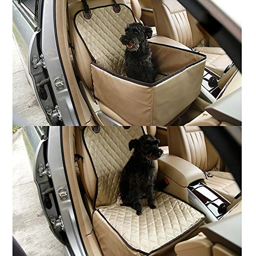 Dog Car Seat Medium Sized Dog Yellow Pet Rebellion Car Seat Cover for Pets, Pet Seat Cover, Dog Car Hammock, Water-Resistant, Wander Style