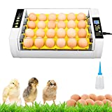 24 Eggs Incubator, Automatic Poultry Hatcher Machine with Automatic Turning, Temperature Control and Humidity Ventilation, for Hatching Chicken, Duck, Goose, Quail Eggs