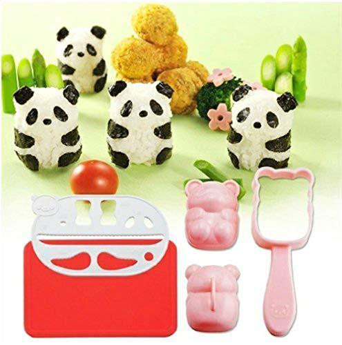 Molde bolas arroz Sonsmer diseño panda onigiri conjunto