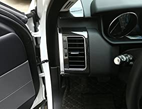 METYOUCAR for Landrover Range Rover Sport RR Sport 2014-2017 Carbon Fiber Style ABS Plastic Side Air Conditioning Vent Outlet Frame Sticker Trim