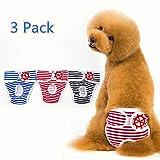 Berocia fisiológicos Pantalones Sanitarios para Perros Mascota Pañal Cachorro Bragas de Menstruación Pantalón Perras Lavable para Perros pequeños, medianos y Grandes (S)
