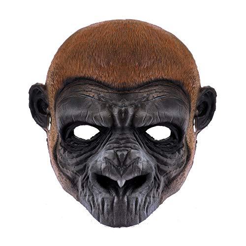2019 de Halloween Máscara divertida fiesta de Halloween carnaval de espuma de poliuretano mono gorila divertido máscara Adecuado para carnaval noche tema de la fiesta ( Color : Gorilla mask )